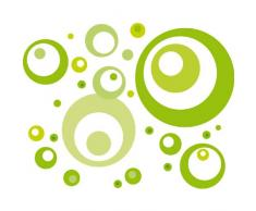Eurographics DS-DT2061 - Adesivi murali Lime Green Bubbles, 50 x 70 cm