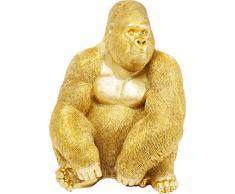 Kare 61445 Statuetta Decorativa Gorilla Gold XL, Oro, X-Large