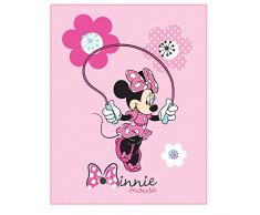CTI, Coperta in Pile, 110 x 140 cm, e Cuscino,40 x 40 cm, Motivo: Disney Minnie