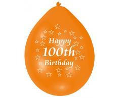 Amscan 22,8 centimetri 10 100th palloncini buon compleanno lattice