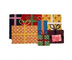 JVL–Festive Regali di Natale a Forma di Lattice zerbino in Fibra di Cocco, 40x 70cm, Multicolore