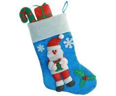 WeRChristmas - Decorazione Natalizia a Forma di Calza, Motivo: Babbo Natale, Illuminazione a LED con 7 Colori cangianti, 53 cm