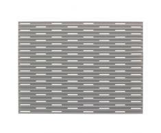 InterDesign Lineo Tappetino Lavandino, Plastica, grigio, 40.75x31.75x40.75 cm