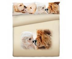 Gabel Planet Life Doggy Completo Lenzuolo Copriletto, 100% Cotone, Multicolore, Singolo, 290x160x1 cm
