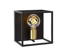 Lucide 00224/01/30 - Applique da parete, metallo, 40 W, nero, oro opaco