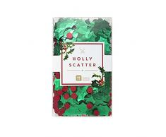 Talking Tables Botanical Foil di Natale decorazione della tavola, Verde e rosso