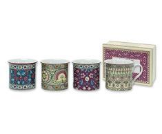 Heath McCabe - Set di tazze in fine porcellana, modello Ashmolean Eastern Textiles, 4 pezzi, 10.0000