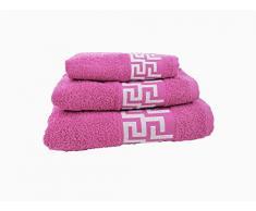 forentex Giochi di asciugamani (Ref vsc-500g) uso multifunzione per bagno, Doccia, lavandino, spiaggia, 100% Cotone/Cotone, Rosa, 30Â X 50, 50Â x 90,100Â x 140Â cm