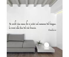 Adesiviamo Confucio L Adesivo Murale, PVC, Nero, 180 x 29 cm