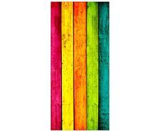 posterdepot ktt0009 - Adesivo Decorativo per Porta, Motivo: Legno Dipinto a Strisce, Dimensioni: 93 x 205 cm
