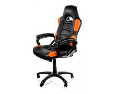 Arozzi - Enzo sedia da Gaming, Nero Arancione, 50 x 55 x 130
