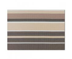 Zeller - Set di tovagliette a Righe, 45 x 32 cm, Colore: Marrone