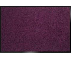 ID Opaco 8012013 Mirande Tappeto Zerbino in Fibra di Nylon e PVC, in caucciù, Colore: Prugna, 120 x 80 x 0,9 cm