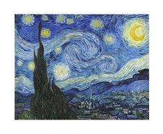 Niik Quadro + Telaio Notte Stellata di Vincent Van Gogh, 90 x 70 x 1.7 cm, Falso dAutore