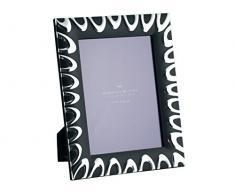 H&H 4781B Portafoto Silver/Nero Texture 13X18 Arredo E Decorazioni Casa, 20x25x3 cm, 12 unità