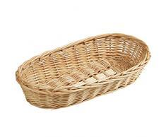 Kesper, cesto di vimini per baguette, in legno di salice, marrone, dimensioni 38Â x 18Â x 8Â cm