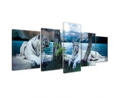 Bilderdepot24, Stampa su tela, con telaio, motivo: Tigre II, 200 x 80 cm, 5 pz.