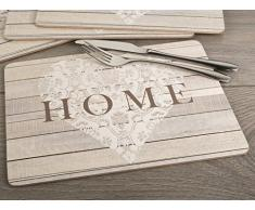 Creative Tops Everyday Home Tovagliette, legno, giallo, 4 pezzi