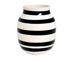 Kähler - Vaso Omaggio, in Ceramica, 20 x 16,5 cm, Colore Bianco e Nero