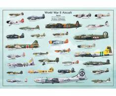 Empire 536525 - Poster educativo Aerei della II Guerra Mondiale (in inglese), dimensioni 98 x 68 cm