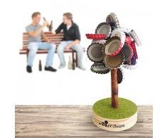 Magnosphere - Tappi magnetici per Albero di Natale, 12 cm, resiste Fino a 5,7 kg, LAlbero di Birra Amanti della Birra, Come Regalo per Feste, cromati