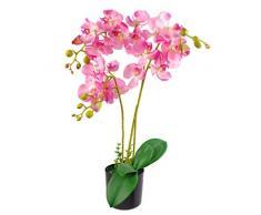 Foglia di lusso realistico orchidea artificiale design UK (60 cm grande, rosa chiaro
