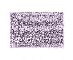 InterDesign Frizz Tappetino Bagno, Morbido, Antisdrucciolevole, Tessuto, Viola, 51x76x0.25 cm
