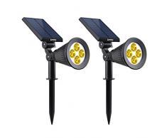 Lumisky Warm - Proiettore a luce solare, colore: Bianco, Plastica Metallo, Bianco caldo, 29x9xH34