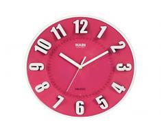 HABI Orologio Parete Tondo 25 Fucsia Arredo e Decorazioni casa, 25 cm