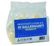 Cereria di Giorgio Risthò Candele Galleggianti, Cera, Avorio, 4.5x4.5x2.5 cm, 20 unità