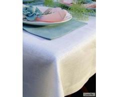 LinenMe 140 x 250 cm tovaglia di lino Emilia, bianco