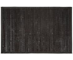 Carpemodo Tappetino per il bagno in bambù/colore: nero/dimensioni: 50 x 80 cm/base antiscivolo/con bordo in tessuto