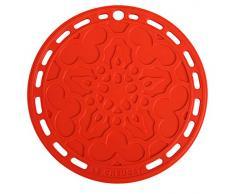 Le Creuset Sottopentola, Presina in Silicone con Occhiello, Rotondo Tradizionale, Silicone, Rosso (Ciliegia), Diametro: 20 cm