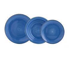 Quid vita servizio da tavola 18Â pezzi, Ceramica, blu, 32Â x 30Â x 30Â cm