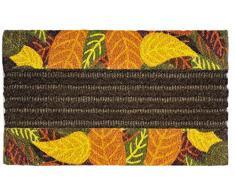 Jute & Co. Zerbino Tessuto in Cocco Stampato con Bordo Antiscivolo, 45 x 75 cm