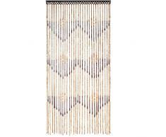 JVL Tuscany appeso in rilievo tenda della porta Display, legno, Multicolore, Legno, 35 x 50 cm