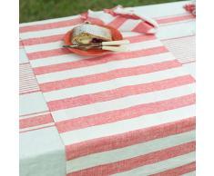 Linenme 1-Pezzo 50 x 131 cm runner da tavolo Philippe in lino, rosso