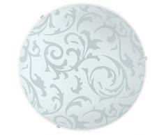 Eglo 90043 Lampada da soffitto E27, Bianco