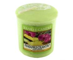 Yankee Candle Samplers Candele Votive Pineapple Cilantro, Cera, Verde, 4.4 x 4.5 x 5.3 cm