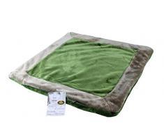 Gözze - Federa cuscino, raso, 50 x 50 cm, Poliestere, verde, 50 x 50 cm