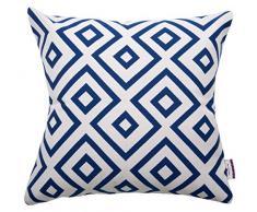 Tom Tailor 564186 fodera per cuscino T-Open Squares, 50 x 50 cm, misto cotone, Blu/Bianco