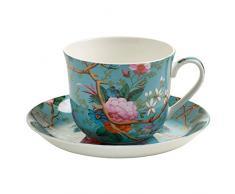 Maxwell & Williams Kilburn Tazza per la Colazione, con Piattino, Tazza per Il caffè e Il tè, Victorian Garden, Porcellana, WK05300