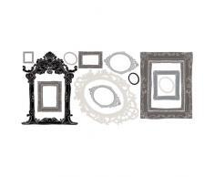 RoomMates RMK2055GM-Adesivi per muro, motivo cornici per foto colore: argento e Nero