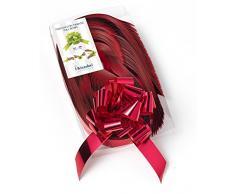 Brizzolari Nastri Fiocchi Rapidi Metallizzati, 50 Pezzi, 31 mm, Decorazioni Addobbi Natale, Colore: Rosso