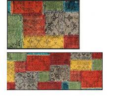 Wash&Dry Vintage Patches Zerbino, Acrilico, Bunt, 40 x 60 x 0.7 cm