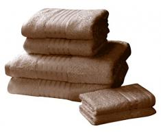 Rapport Windsor–Set di Asciugamani, 100% Cotone–Cioccolato