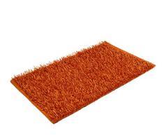 Goezze Shaggy - Tappeto a Pelo Lungo a Effetto Metallizzato Tinta Unita 60x100cm Arancione