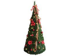 Casa e Xristmas Albero Natale Pop-Up Luci, Acrilico, Verde, 1x1x180 cm