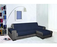 Trendy Copridivano Penisola, Blu Scuro 240 cm