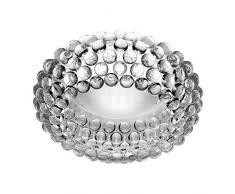 Foscarini Caboche Lampada da Soffitto, R7s, 120 watts, Trasparente, alluminio, bianco